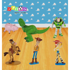 Set Toy Story Woody Buzz Rex Jessie Jam Y Tiro