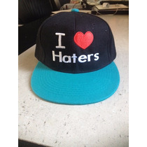 Gorra Plana Unisex. I Love Haters
