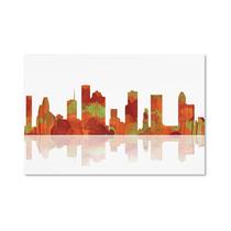 Houston, Texas Skyline Canvas Art By Marlene Watson