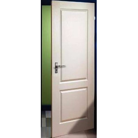 Puerta Placa Gromanti 2 Tableros 70-10 Mdf 9mm Marco Madera