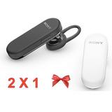 Dos Por Uno Manos Libres Mbh20 Sony Bluetooth Blanco Y Negro