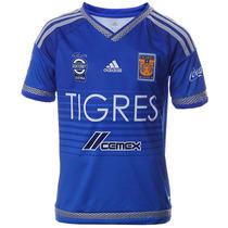 Playera Jersey Tigres Visitante 15/16 Niño Adidas S29564