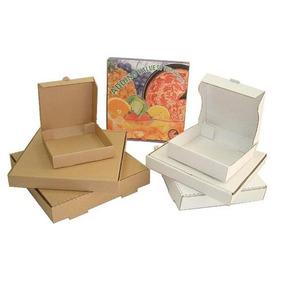 50 Cajas Para Pizza 44x44x5cms Carton Microcorrugado Kraft