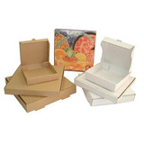 Caja Para Pizza 41x41x5cms Carton Microcorrugado Kraft