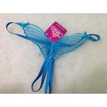 Tanga Mariposa Abierta Azul Sexy