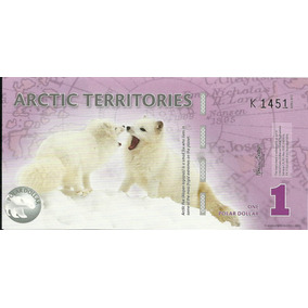 Billete Territorios Del Artico 1 Dolar (2012) Zorra Artica