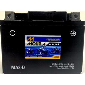 Bateria Moto 12v 3ah 3 Amperes Biz 100 Caixa Pequena Ma3-d