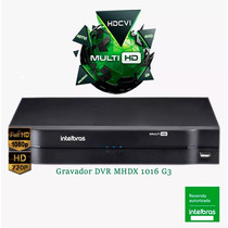Gravador Digital De Vídeo Dvr Multi Hd Intelbras Mhdx 1016
