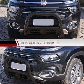 Quebra Mato Preto Fiat Toro Bepo Parachoque De Impulsão