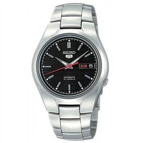 Relógio Seiko 5 Masculino Automático 21 Jewels Fundo Preto