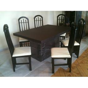 comedor minimalista sillas forrado en tacto piel dmm