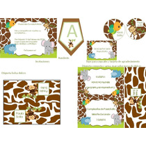 Kit Imprimible De Baby Safari Para Cumpleaños Y Baby Showers
