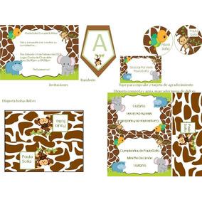 Kit Imprimible De Baby Safari Para Cumpleaños Y Baby Showers