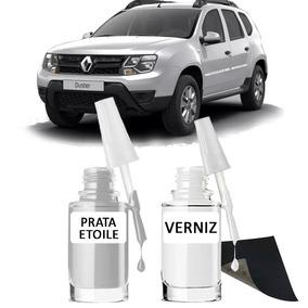 Tinta Tira Risco Automotivo Renault Duster Cor Prata Etoile