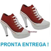 Sneaker Tenis Bota Salto Cano Alto Plataforma Tipo All Star
