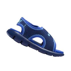Sandália Papete Nike Menino Infantil Sunray A4 Azul Original