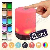 Luminária Touch Caixa De Som Mp3 Led Usb Bluetooth Wireless