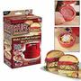 Maquina Fazer Hambúrguer Manual Rápido E Prático Festa