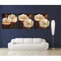Flores Amapolas Tela Canvas 180x60 Cm Bastidor Exelente