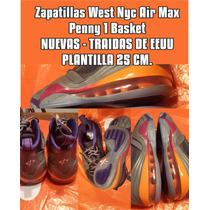 Botitas Air Max Penny1 Nuevas 2016 Eeuu / Ultimo Par