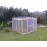 Invernadero A Medida / Estructura De Madera Nylon 200 Micron