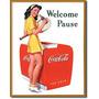 Poster Anuncio Litografia Lamina Coca Cola Vintage Retro