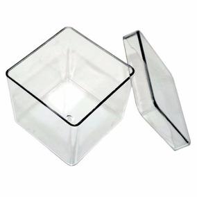 Caixinha Acrilica 5x5 Transparente - Pct 50 Unidades