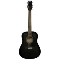 Guitarra 12 Cuerdas Acústica Rmc Negro Swamp