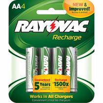 Paquete De 4 Pilas Baterias Aa Recargables Rayovac 1350mah