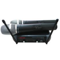 Microfone Sem Fio Duplo Vhf Ristar *super Promoção*