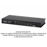 Switch Selector De Video Hdmi 3x1 Con Control Remoto 8502