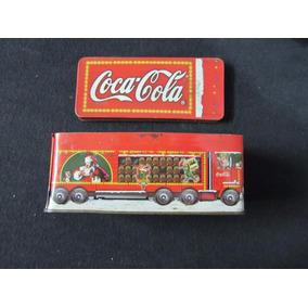 Lata Decorativa Em Formato De Caminhão - Coca Cola - A62
