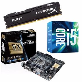 Kit Placa Mãe Asus H110m-d + Intel Core I5 6400 + 8gb Ddr4 !