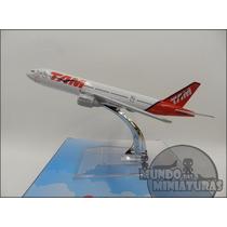 Avião Miniatura - Boeing 777-300 Tam - Em Metal - Promoção