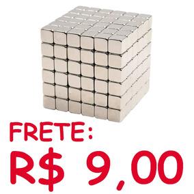 Imã De Neodímio / 4x4x4 Mm - 2 Peças / Frete R$ 9,00