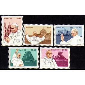 Brasil C 1148/52 Visita Do Papa João Paulo Ii 1980 Nnn