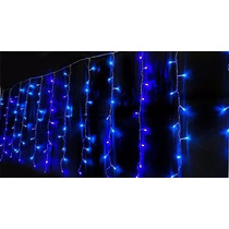Cascata Pisca Pisca Led Azul 100 Lampadas Natal E Decoracao