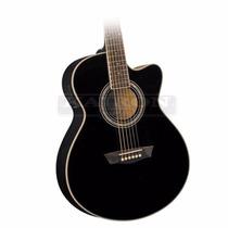 Guitarra Electroacustica Washburn Ea12 B Negra