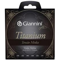 Encordoamento Para Violão Nylon Giannini Titanium Tensão Méd