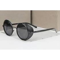 Oculos De Sol Designer Italiano C/proteção Lateral Frete Gts