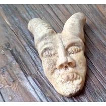 Dije Amuleto, Figura De Macho Cabrío. Asta De Venado Tallada
