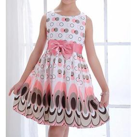 Vestido Infantil/ Criança Casual Verão Estampado Leve Lindo