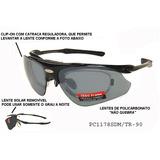 Oculos Para Jogar Tenis - Com Clip-on Para Grau