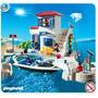 Playmobil 5128 Puerto Policia De Puerto Y Lancha