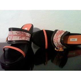 Sandalias Prada Tipo Wedge Talla 26.5 Mexicano Con Dust Bag