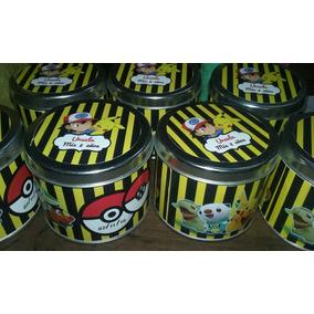 Souvenir Latas Carameleras 7,5x8 Pokemon Soy Luna 1o Unid