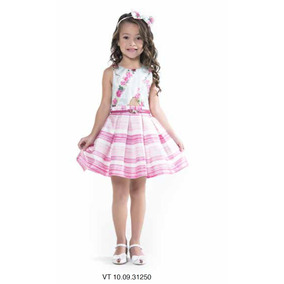 Vestido Petit Cherie Infantil Shantung C/ Strass E Cinto