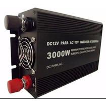 Inversor Veicular 3000w 12v 110v 127v C 2 Tomadas Automotivo
