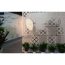 Painel Decorativo Em Mdf Elemento Vazado 30 X 30 Cm