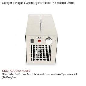 Generador De Ozono+ Uv Uso Industrial 7000mg/hr Timer